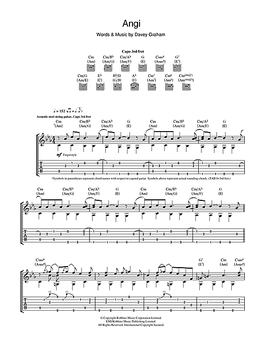 Angi Sheet Music