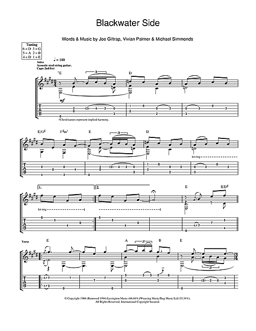 Blackwater Side Sheet Music