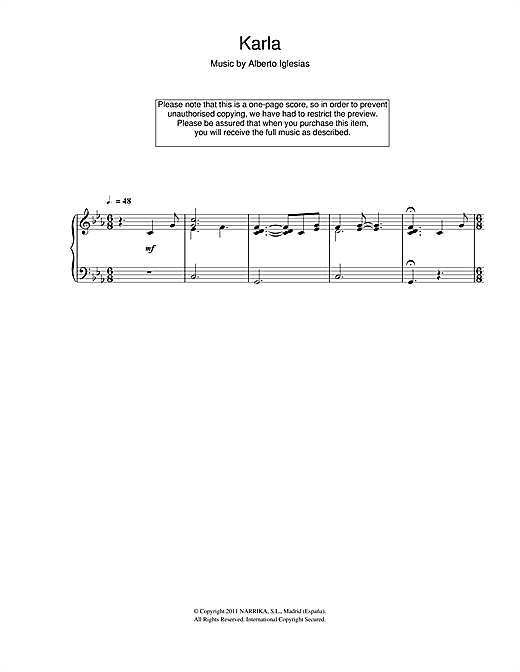 Karla Sheet Music