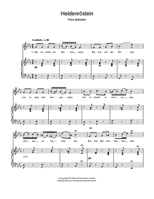 Heidenroslein Sheet Music