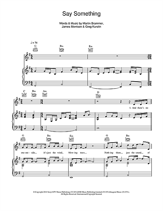 Piano say something piano chords easy : Say Something Now sheet music by James Morrison (Piano, Vocal ...