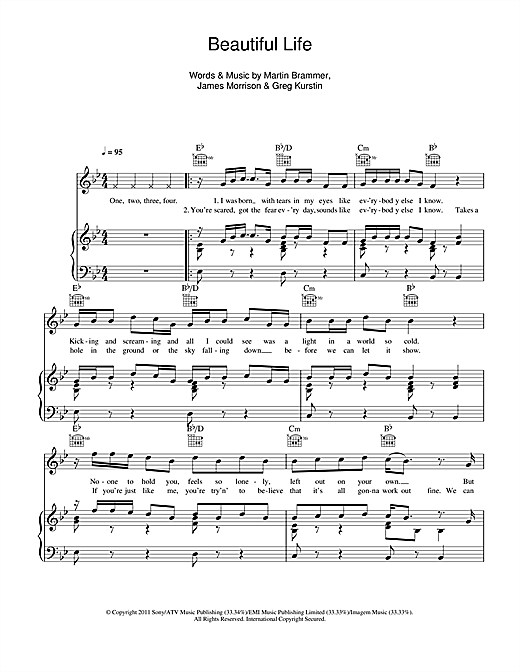 Beautiful Life Sheet Music