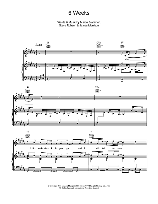 6 Weeks Sheet Music