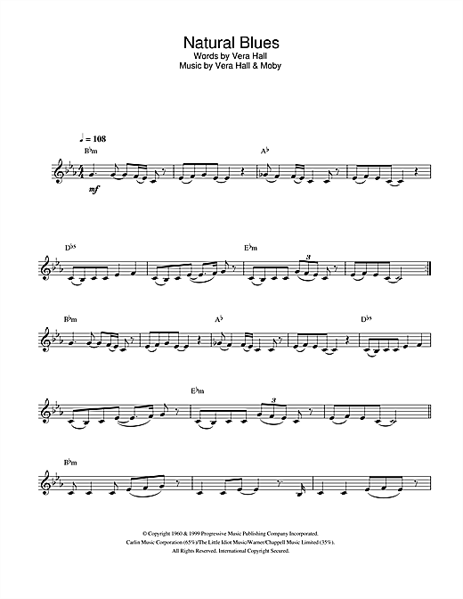 Natural Blues Sheet Music