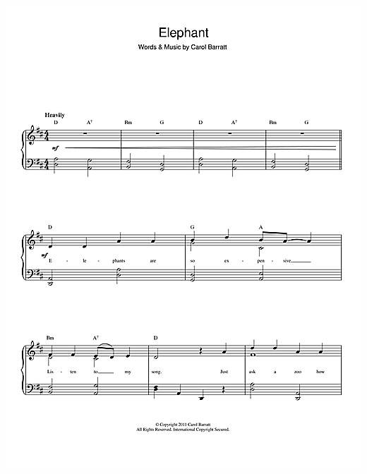Elephant Sheet Music