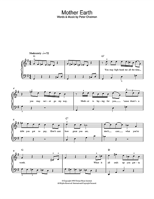 Mother Earth Sheet Music
