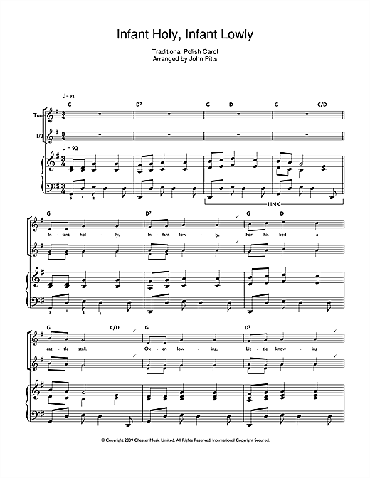 Infant Holy, Infant Lowly Sheet Music