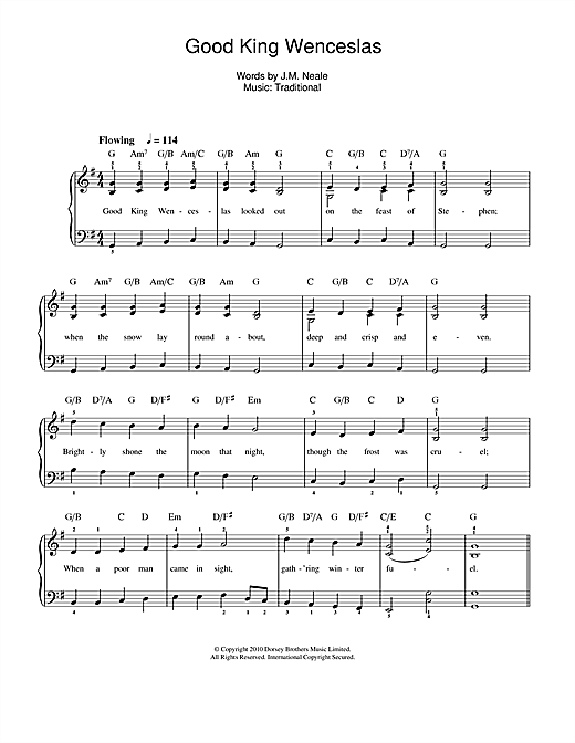 Ukulele ukulele tabs good king wenceslas : Good King Wenceslas sheet music by Christmas Carol (Beginner Piano ...