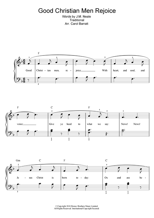 Good Christian Men Rejoice Sheet Music