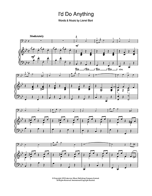I'd Do Anything (from Oliver!) Sheet Music