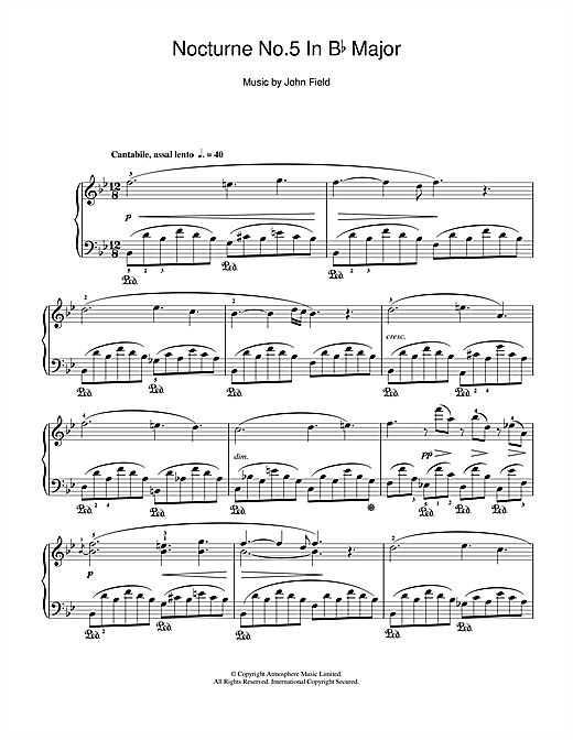 Nocturne No.5 In B Flat Major Sheet Music
