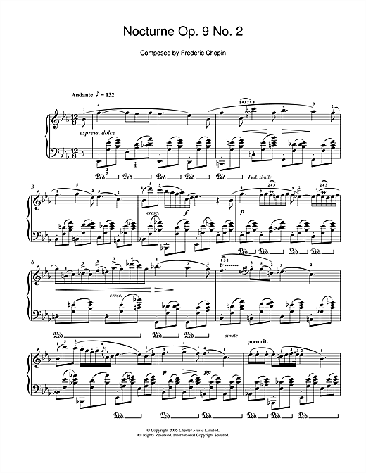 Nocturne Op. 9, No. 2 Sheet Music