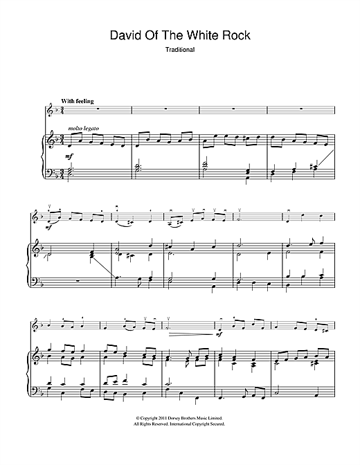 David Of The White Rock Sheet Music