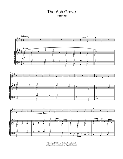 The Ash Grove Sheet Music