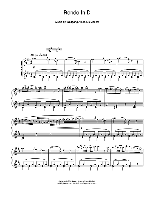 Rondo In D Sheet Music