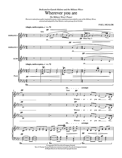 Wherever You Are Sheet Music