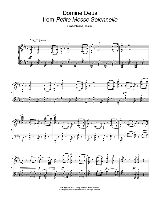 Domine Deus (from Petite Messe Solennelle) Sheet Music