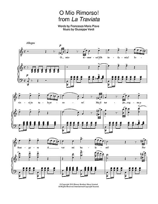O Mio Rimorso! (from La Traviata) Sheet Music