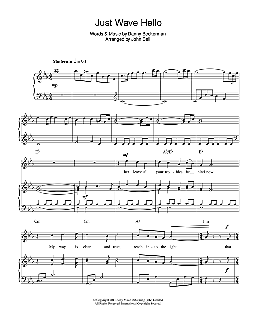 Just Wave Hello Sheet Music