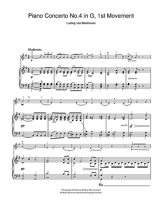 Piano Concerto No.4 In G Major, First Movement (Violin Solo)