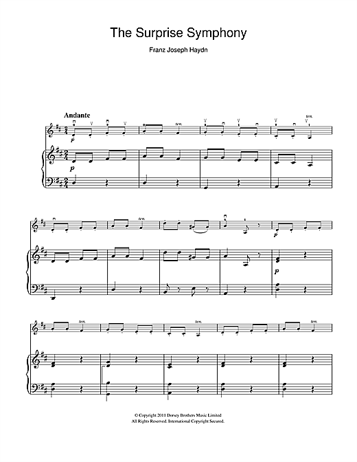 The Surprise Symphony Sheet Music
