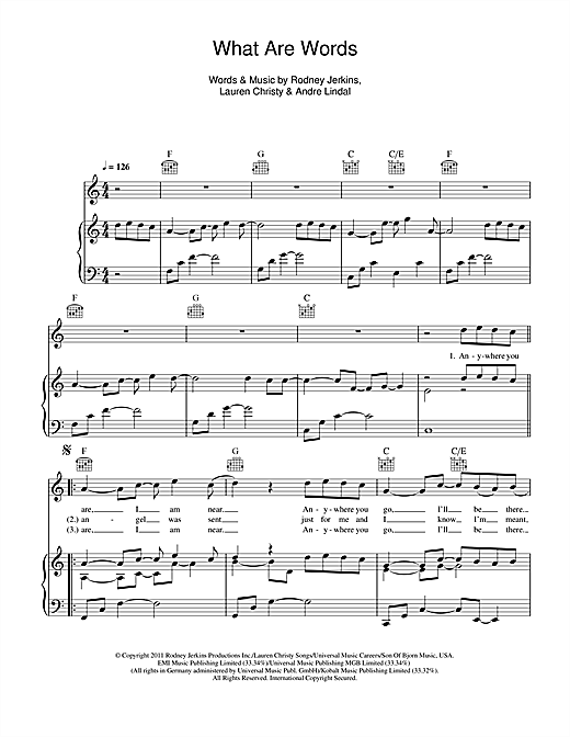 What Are Words Sheet Music