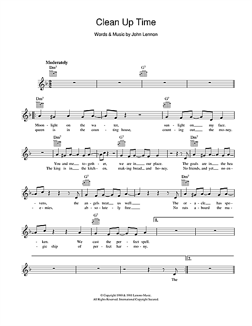 Clean Up Time Sheet Music