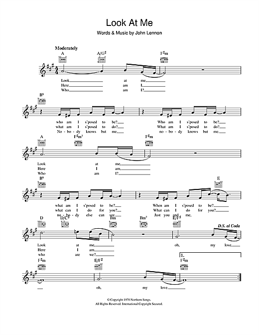 Look At Me (Lead Sheet / Fake Book)