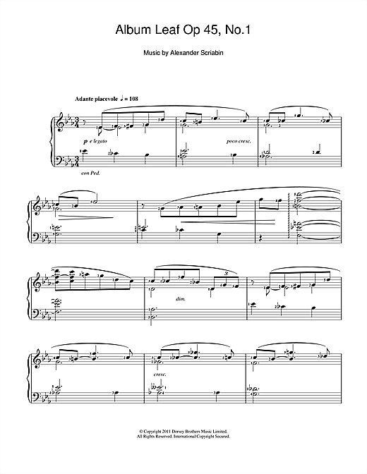 Album Leaf Sheet Music