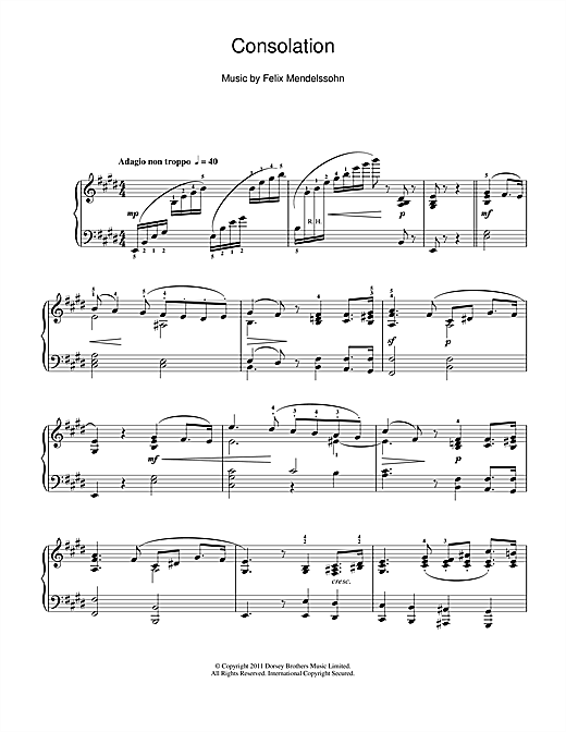 Consolation (Piano Solo)