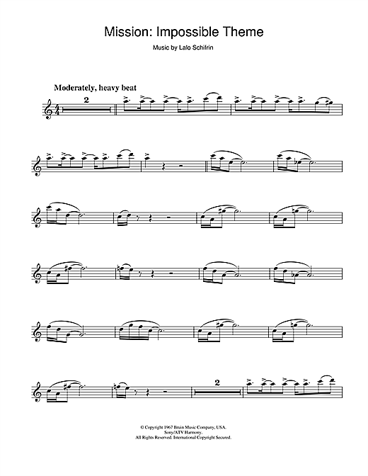Mission: Impossible Theme (Mission Accomplished) Sheet Music
