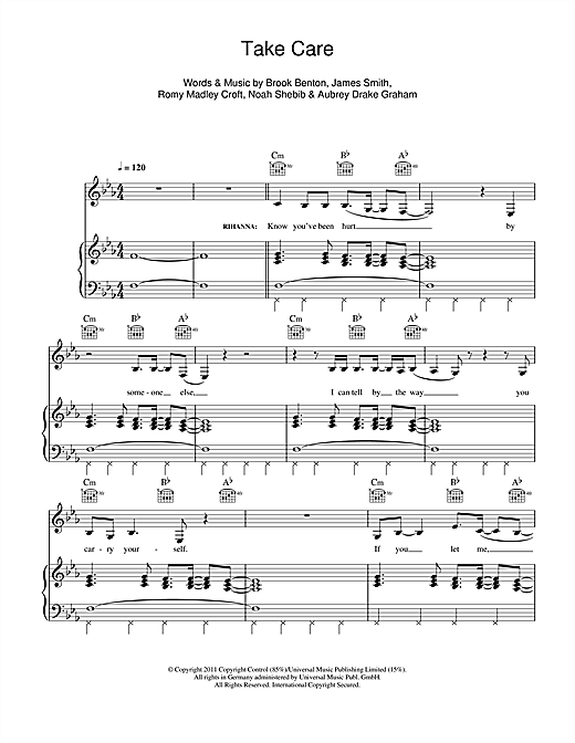 Take Care (feat. Rihanna) Sheet Music