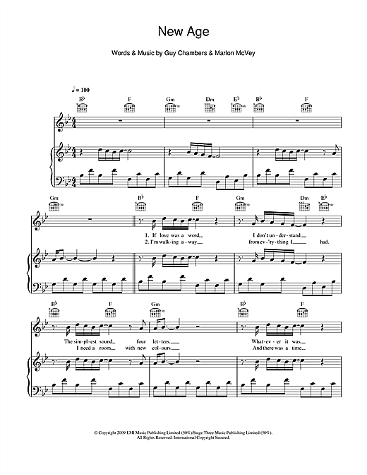 New Age Sheet Music