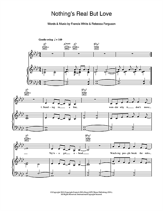 Nothing's Real But Love Sheet Music