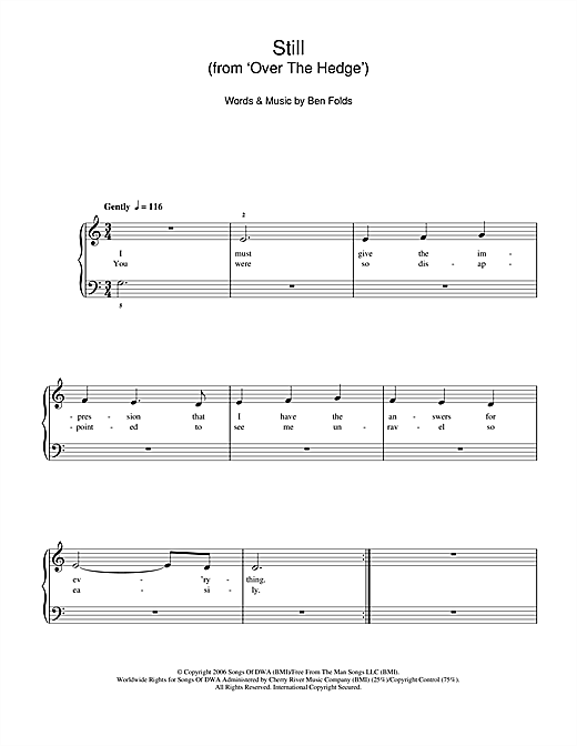 Still (from 'Over The Hedge') Sheet Music