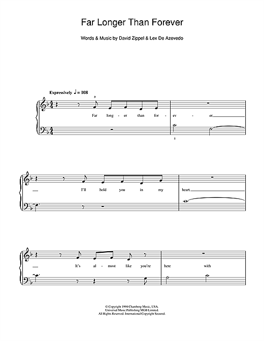 Far Longer Than Forever Sheet Music