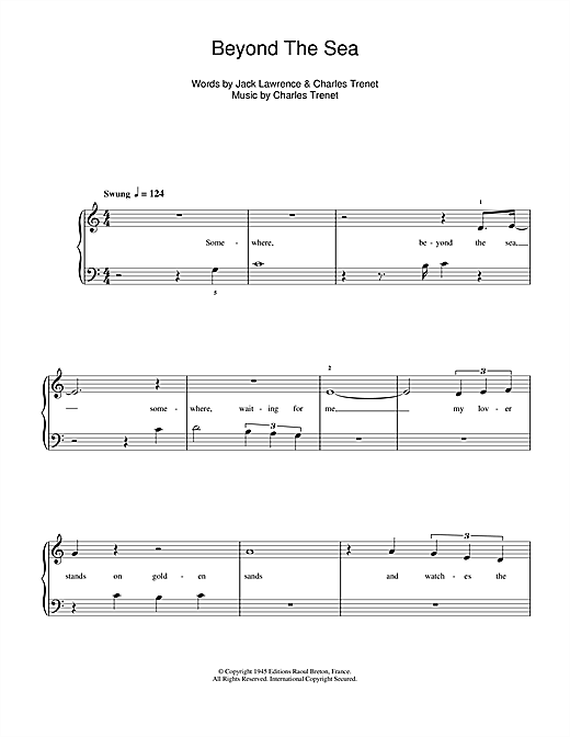 Beyond The Sea (from Finding Nemo) Sheet Music
