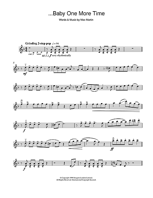 ...Baby One More Time Sheet Music