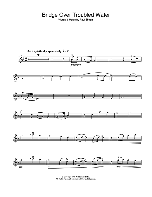 Bridge Over Troubled Water Sheet Music