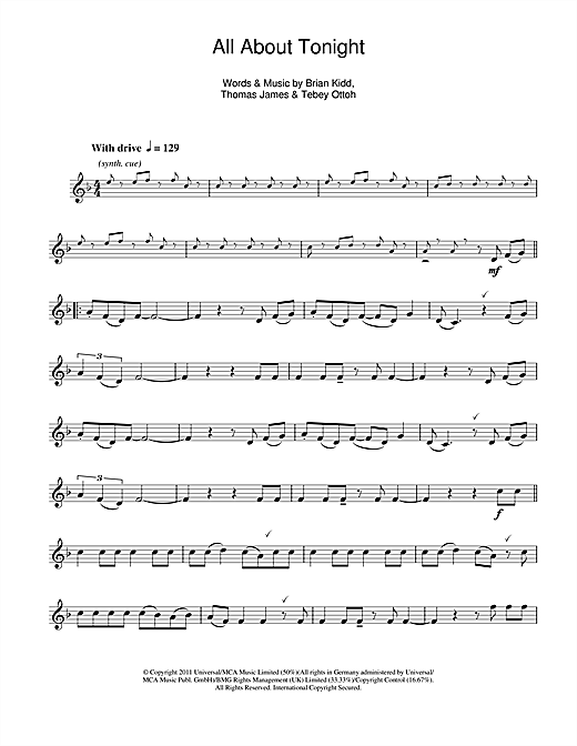 All About Tonight Sheet Music