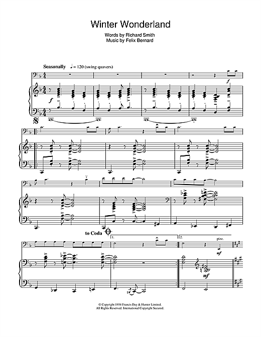Partition autre Winter Wonderland de Richard Smith - Violoncelle