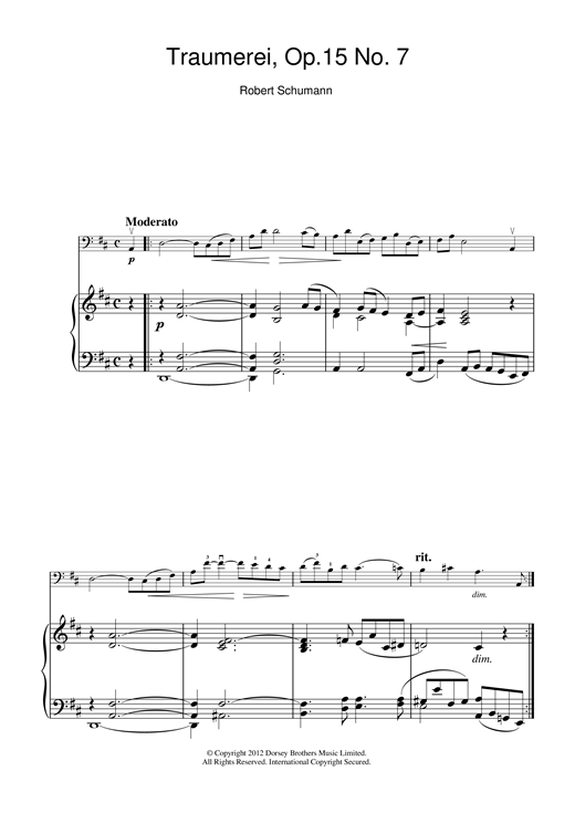 page one of Traumerei Op.15 No.7ASALTTEXT