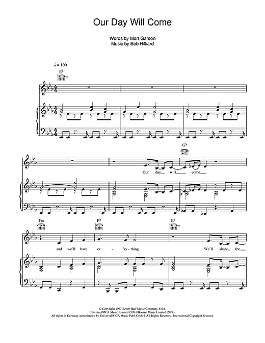 Our Day Will Come Sheet Music