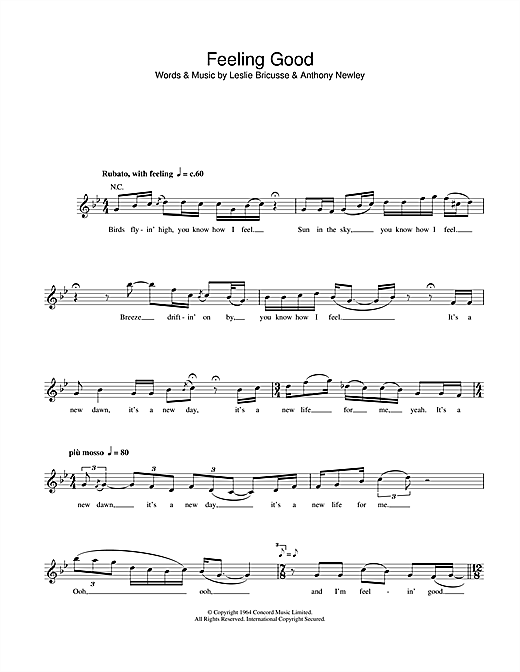 Feeling Good Sheet Music