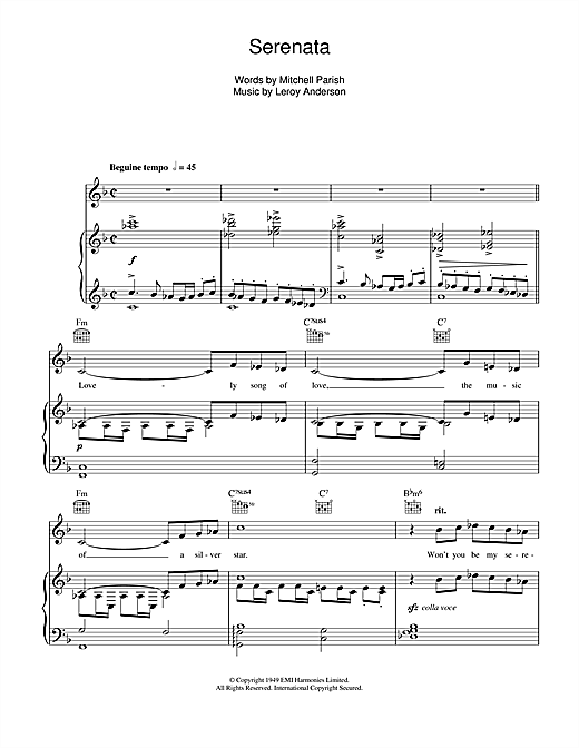 Serenata Sheet Music