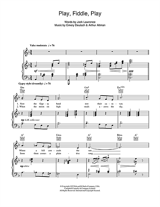 Play, Fiddle, Play (Piano, Vocal & Guitar (Right-Hand Melody))