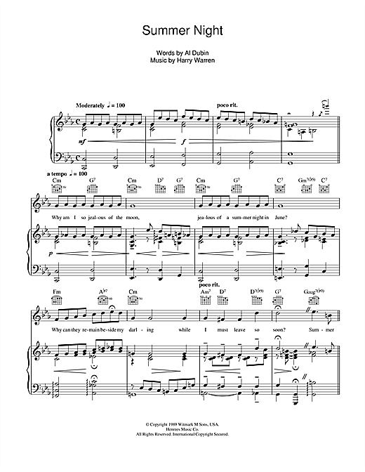 Summer Night Sheet Music