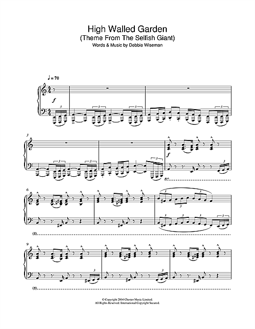 High Walled Garden (Theme From The Selfish Giant) Sheet Music
