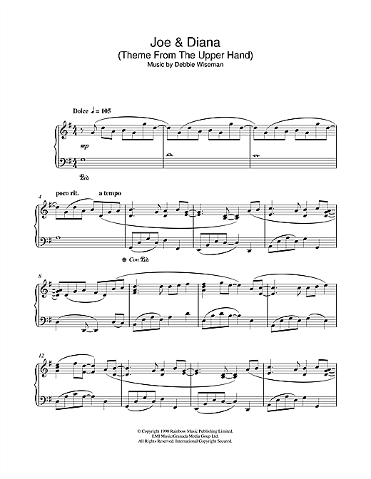 Joe & Diana (Theme From The Upper Hand) Sheet Music