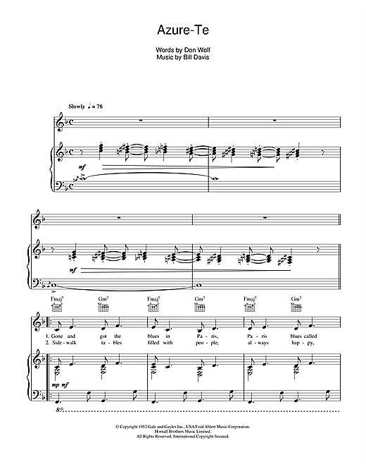 Azure-Te Sheet Music